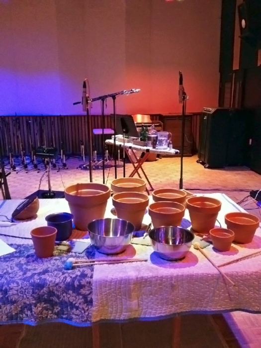 clay pots & stainless steel w:PZM mics